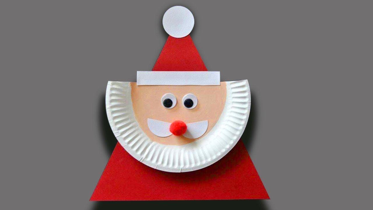 3 Unique Designs of Paper Plate Santa Craft 5 Christmas Craft Ideas Using Paper Plates Christmas Ornament