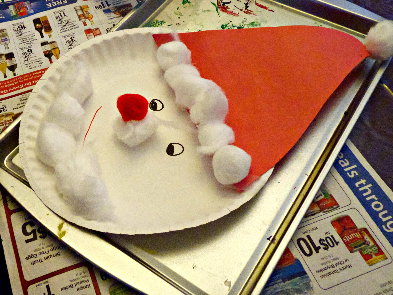 3 Unique Designs of Paper Plate Santa Craft Christmas Preschool Week More Excellent Me