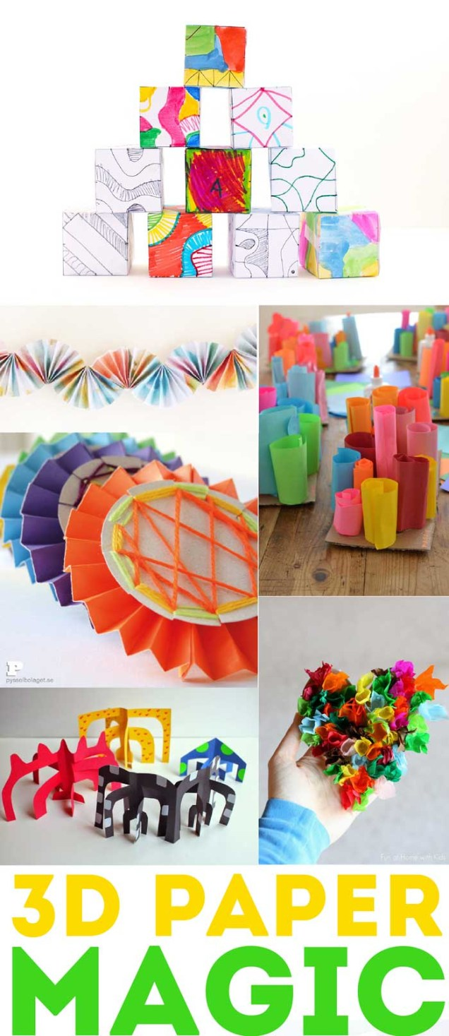 3D Paper Crafts For Kids 60 Rockin Paper Crafts Babble Dabble Do
