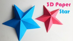 3D Paper Crafts For Kids How To Make A 3d Paper Star Easy Origami Stars For Beginners