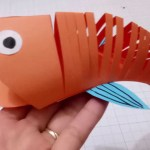 3D Paper Crafts For Kids How To Make A Paper Moving Fisheasy Crafts 3d Paper Fish For Kid