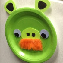 Angry Bird Paper Plate Craft Paper Plate Angry Birds Pig Craft No Mess I Put All The Pieces