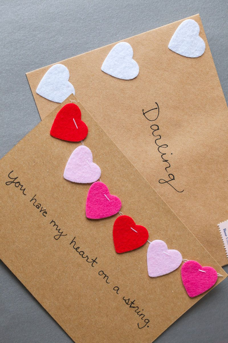 Awesome valentine construction paper crafts 25 Diy Valentines Day Cards Homemade Ideas For Valentines Day Cards