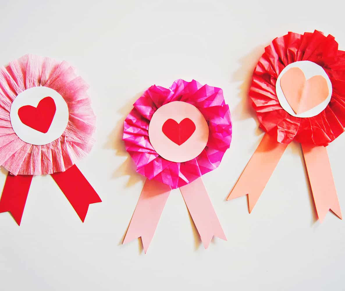Awesome valentine construction paper crafts Cute Cardboard Valentine Ribbon Craft For Kids