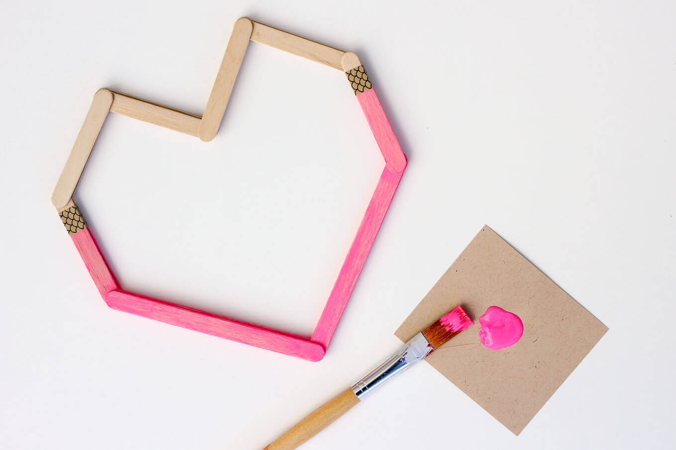 Awesome valentine construction paper crafts Diy Valentines From Popsicle Sticks Make Them With Kids