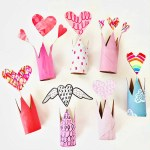 Awesome Valentine Construction Paper Crafts Recycled Valentine Paper Tube Crowns