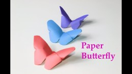 Cool Crafts To Make With Paper How To Make A Paper Butterfly Easy Origami Paper Crafts Diy Cool
