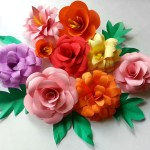 Craft Flower Paper Diy Paper Flowers Folding Tricks 5 Steps With Pictures
