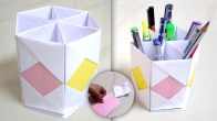 Craft From Waste Material Paper Pen Stand From Waste Material Origami Pen Holder Pen Holder From