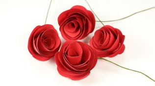 Craft Paper Flowers Roses Easy Paper Rose Flower Craft Step Step Diy Rose Making With