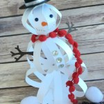 Crafts With Paper For Adults How To Make A Snowman Craft With Paper Strips The Crafty Blog Stalker