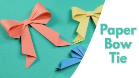 Crafts With Paper For Kids Easy Origami For Kids Paper Bow Tie Simple Paper Craft Idea For