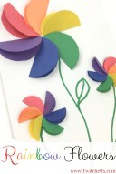 Crafts With Paper For Kids How To Make Easy Rainbow Paper Flowers For Kids Rainbow Crafts And