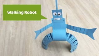 Crafts With Paper For Kids Paper Craft Walking Robot Made Of Paper Your Kids Will Love It