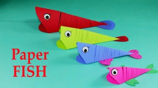 Crafts With Paper For Kids Paper Crafts For Kids Easy Paper Fish Crafts Diy Tutorial Youtube