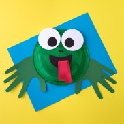 Crafts With Paper Plates For Preschoolers How To Make A Paper Plate Frog Craft