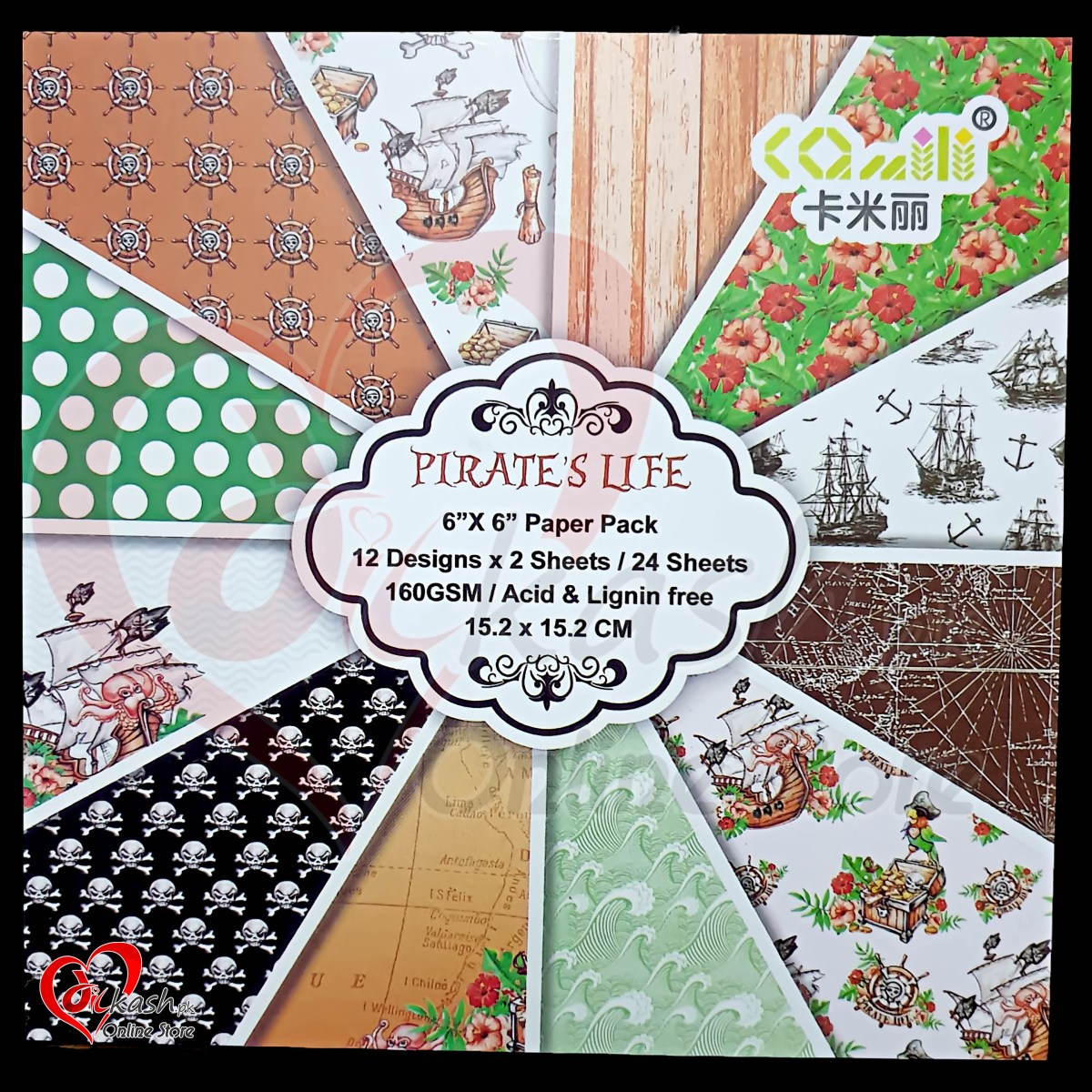 Crafts With Scrapbook Paper Scrapbook Paper Craft Pattern 6x6 Inched Pattern Paper Pirates Life