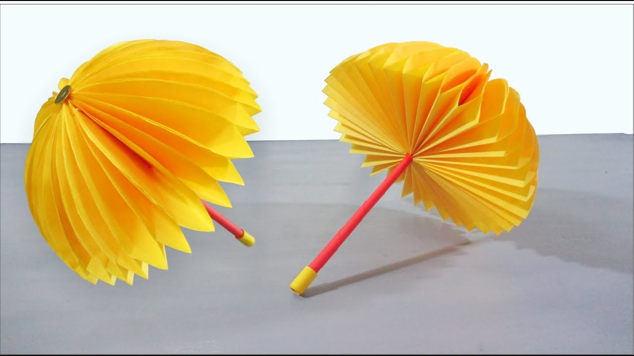 Create paper umbrella craft for party glass decor Paper Crafts For Kids Easy Paper Umbrella Craft Step Step Tutorial