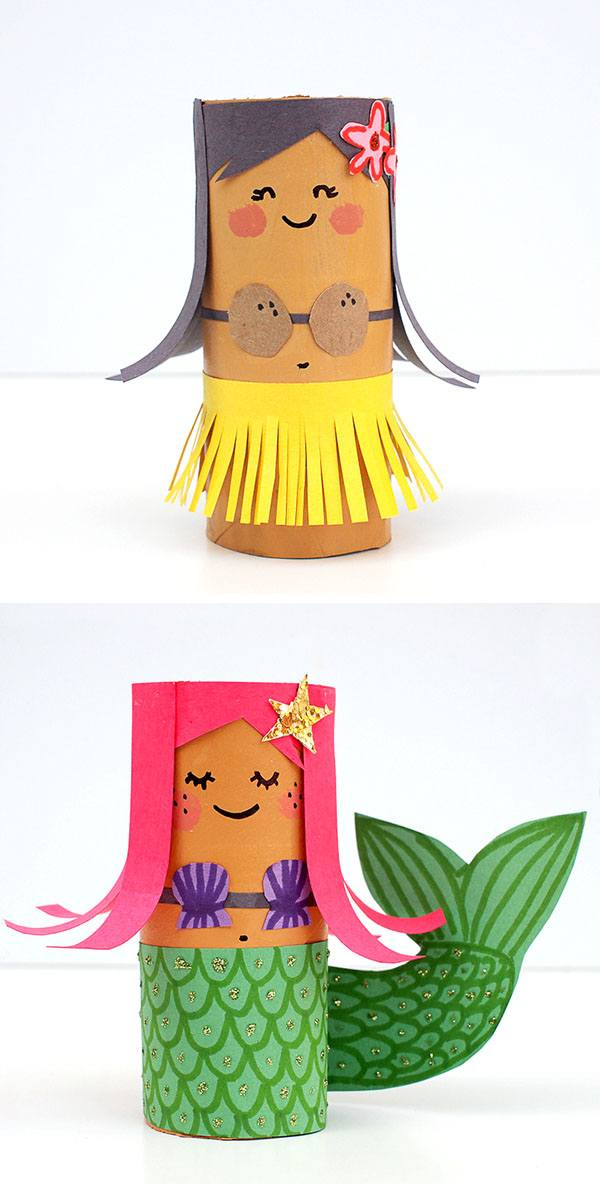 Creative crafts with toilet paper roll 15 Toilet Paper Roll Crafts For Kids Homelovr