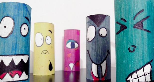 Creative crafts with toilet paper roll Halloween Crafts For Kids 19 Upcycled Toilet Paper Rolls Ideas