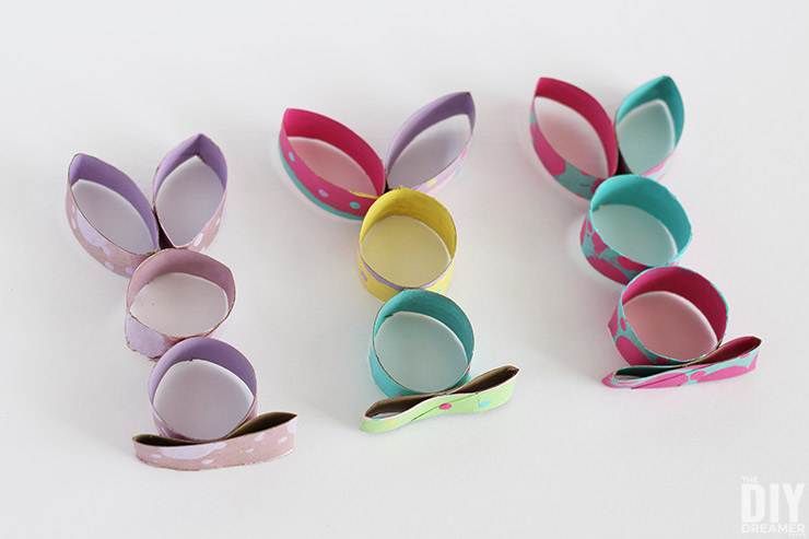 Creative crafts with toilet paper roll Toilet Paper Roll Easter Bunny Craft