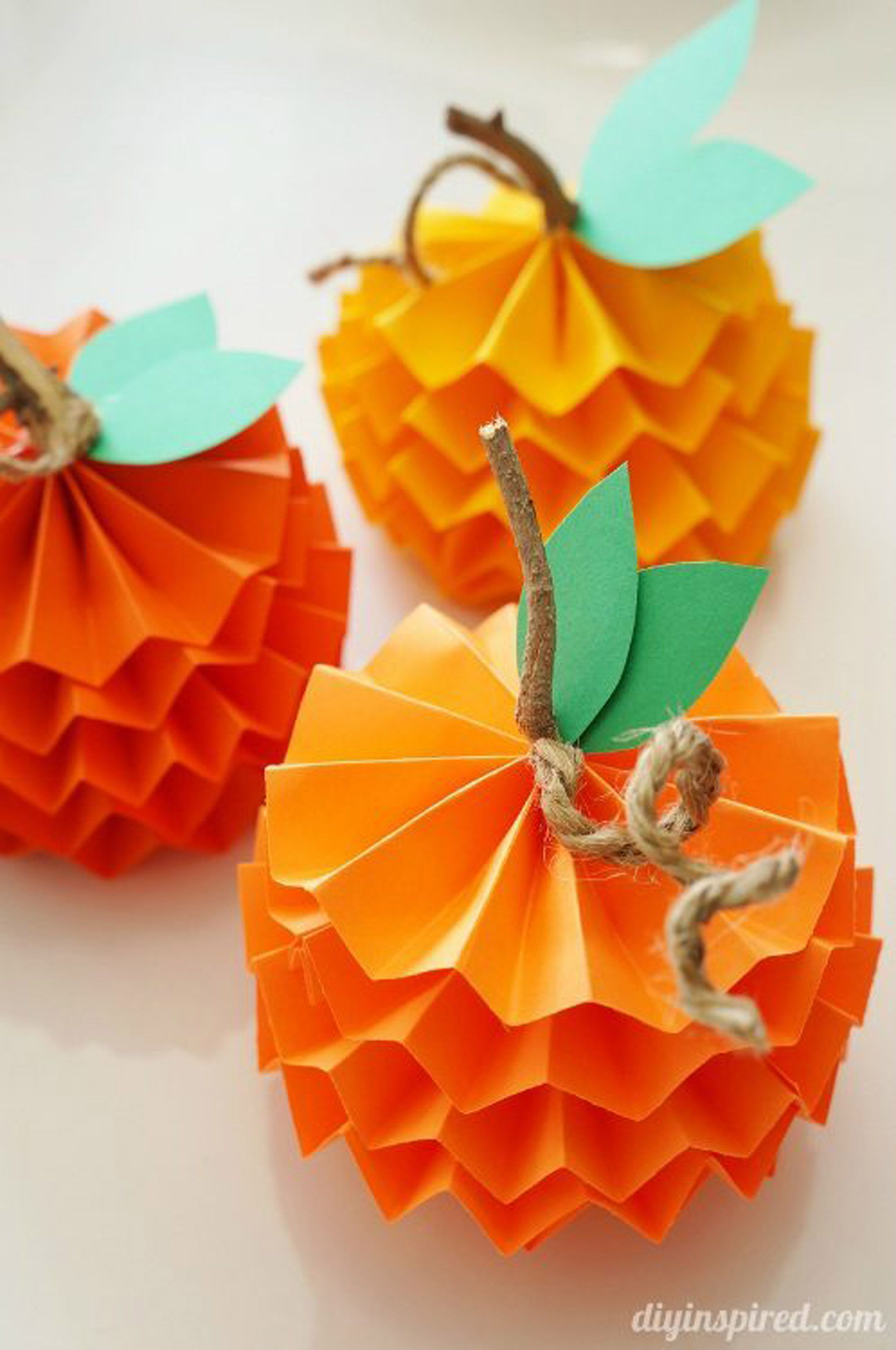Creative ideas for pumpkin paper crafts design 41 Best Fall Crafts Easy Diy Home Decor Ideas For Fall