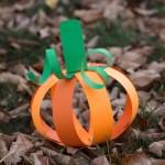 Creative Ideas For Pumpkin Paper Crafts Design Easy Paper Strip Pumpkin Craft For Kids