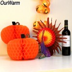Creative Ideas For Pumpkin Paper Crafts Design Ourwarm Thanksgiving Table Decorations 3d Honeycomb Turkey Pumpkin