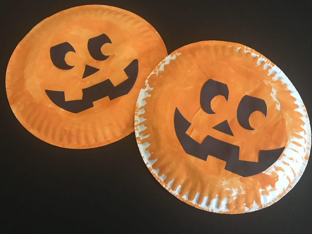 Creative ideas for pumpkin paper crafts design Paper Plate Pumpkin Craft Quietly Creative