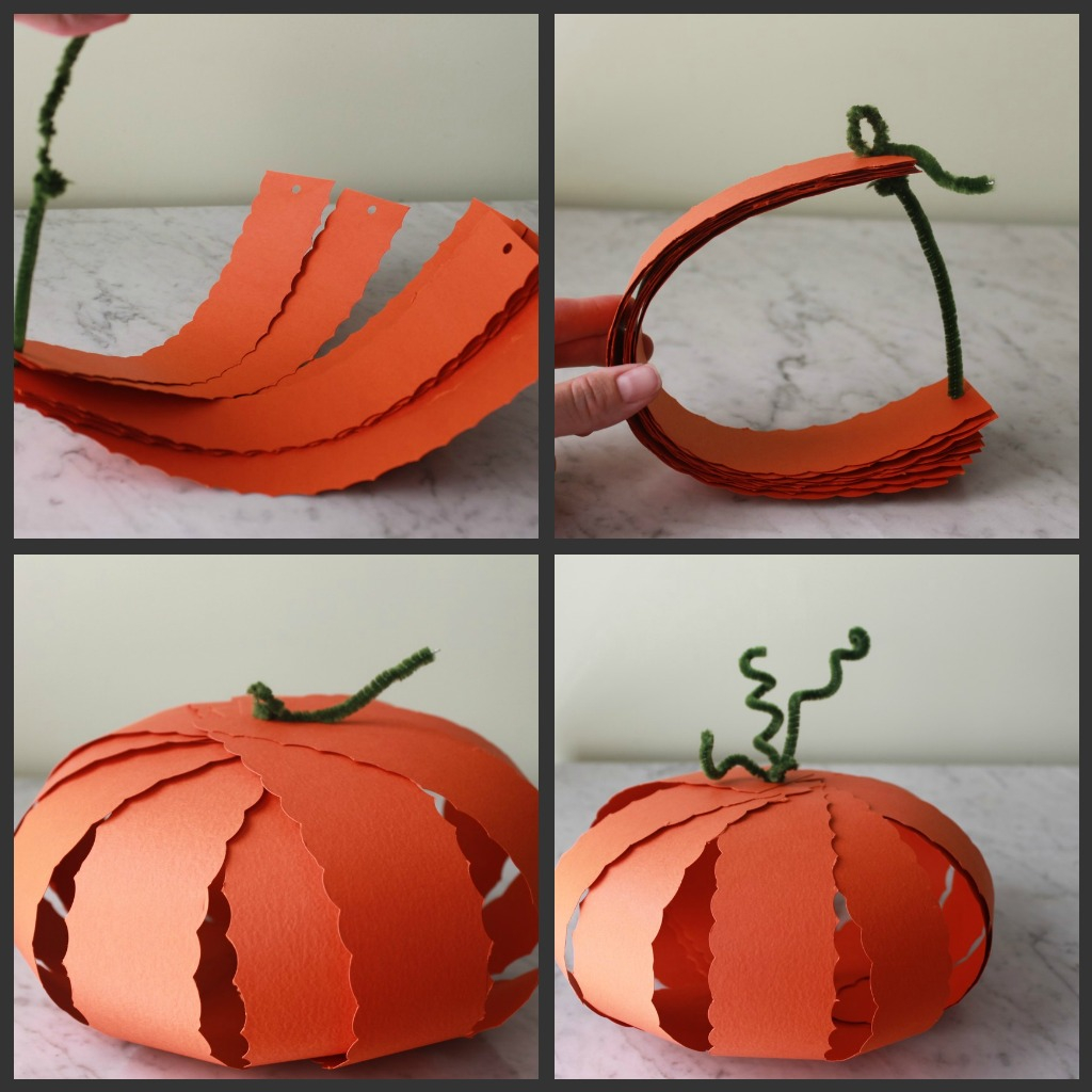 Creative ideas for pumpkin paper crafts design Three Fun Halloween Craft Ideas