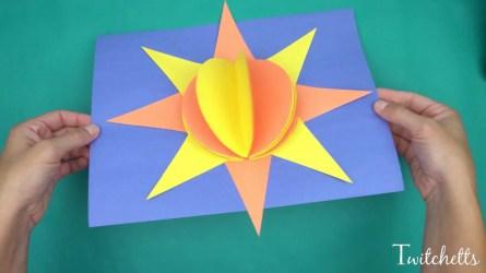 Easy Construction Paper Crafts 3d Paper Sun Construction Paper Crafts For Kids Youtube
