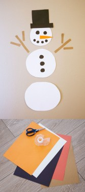 Easy Construction Paper Crafts Easy Construction Paper Snowman Craft Kids Love Holidays