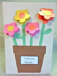 Easy Construction Paper Crafts Mothers Day Construction Paper Vase School Pinterest Paper