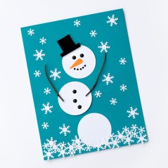 Easy Construction Paper Crafts The Happiest Paper Snowman Craft For Kids Fireflies And Mud Pies