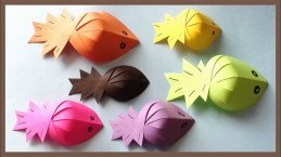 Easy Paper Craft Ideas For Kids Kids Craft Ideas Origami Paper Fishes For Kids Simple And Easy Paper