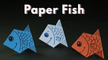 Easy Paper Craft Ideas For Kids Kids Craft Ideas Origami Paper Fishes For Kids Simple And Easy