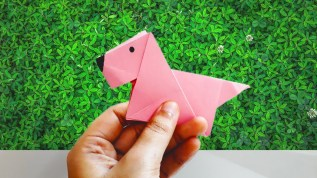 Easy Paper Craft Ideas For Kids Origami Dog Origami Animal Diy Easy Paper Craft Ideas For