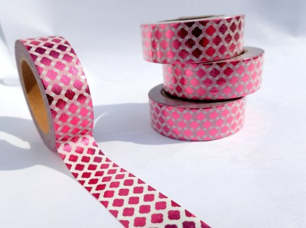 Foil Paper Crafts Pink Diamonds Foil Washi Tape Paper Tape Great For Scrapbooking