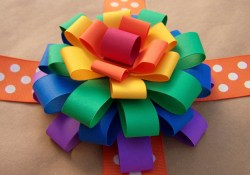 Fun Crafts To Do With Construction Paper Older And Wisor How To Make A Loopy Paper Flower Bow Gift