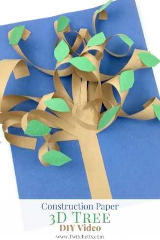 Fun Crafts With Construction Paper Construction Paper 3d Tree Video Fine Motorperceptual