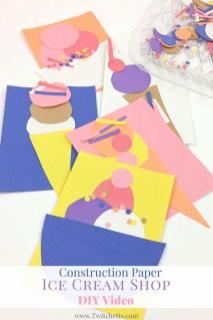 Fun Crafts With Construction Paper Construction Paper Ice Cream Shop Video The Group Board On