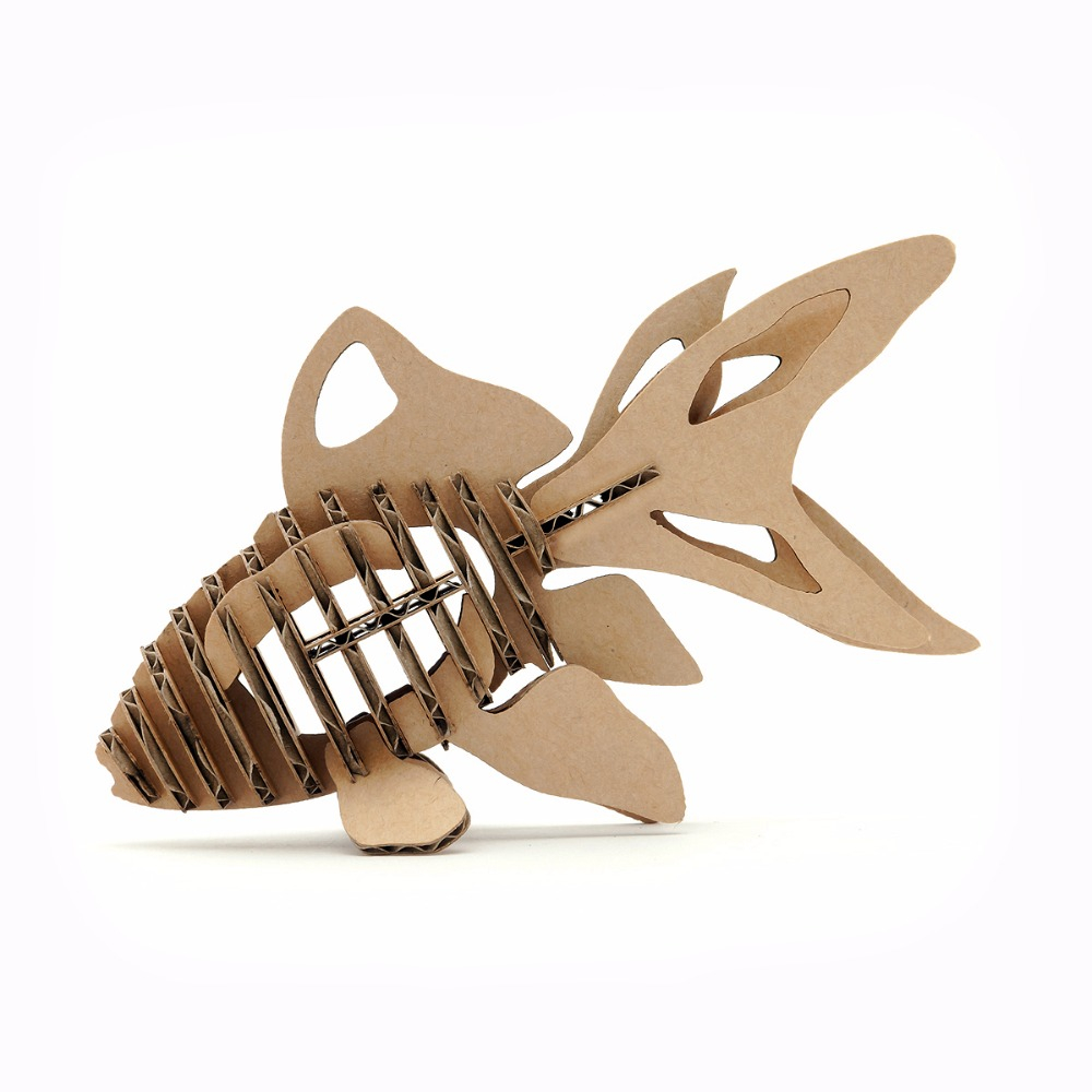 Handmade Paper Craft Gifts You can Make Right Now 3d Puzzle Fish Paper Craft Goldfish Model Cute Kids Educational Toys