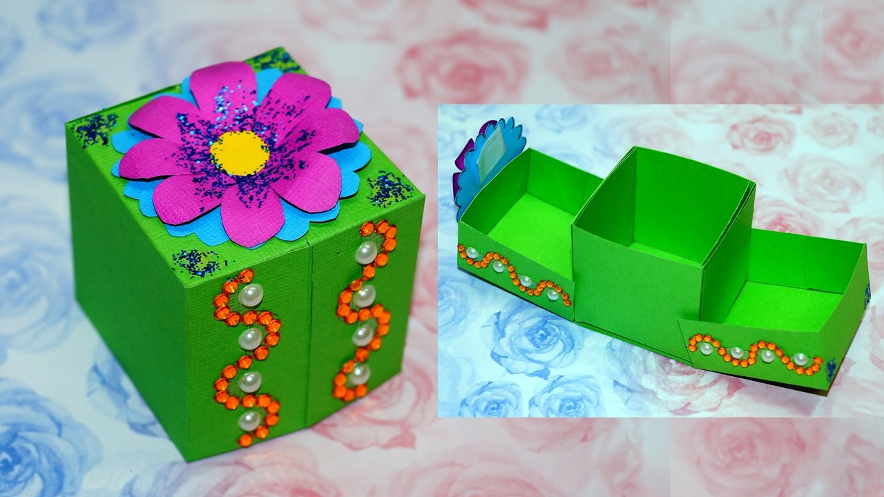 Handmade Paper Craft Gifts You can Make Right Now Diy Paper Crafts Idea Gift Box Ideas Craft Gift Box Making Diy