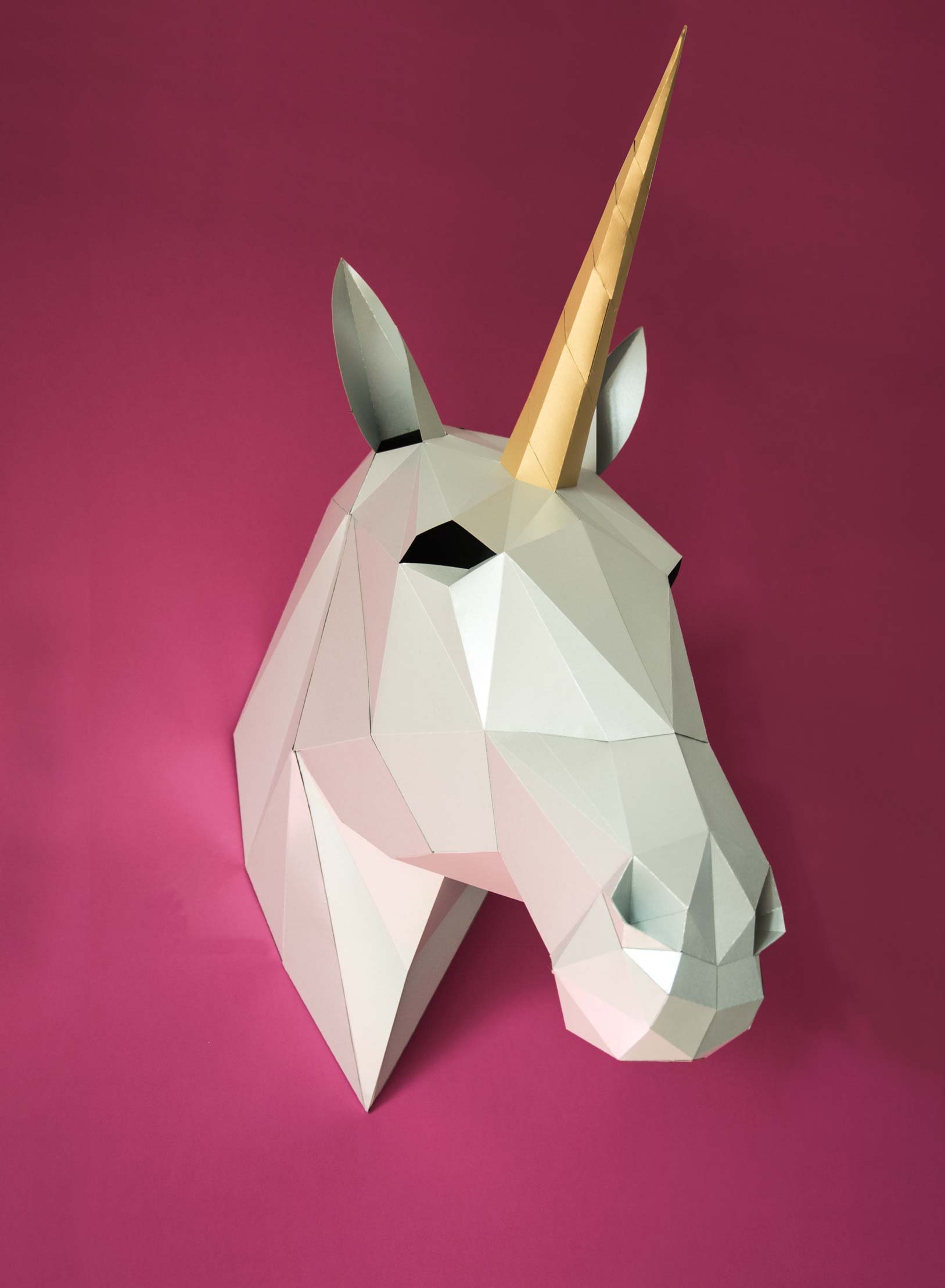 Handmade Paper Craft Gifts You can Make Right Now Unicorn Decor 3d Papercraft Digital Download Smaga Projektanci