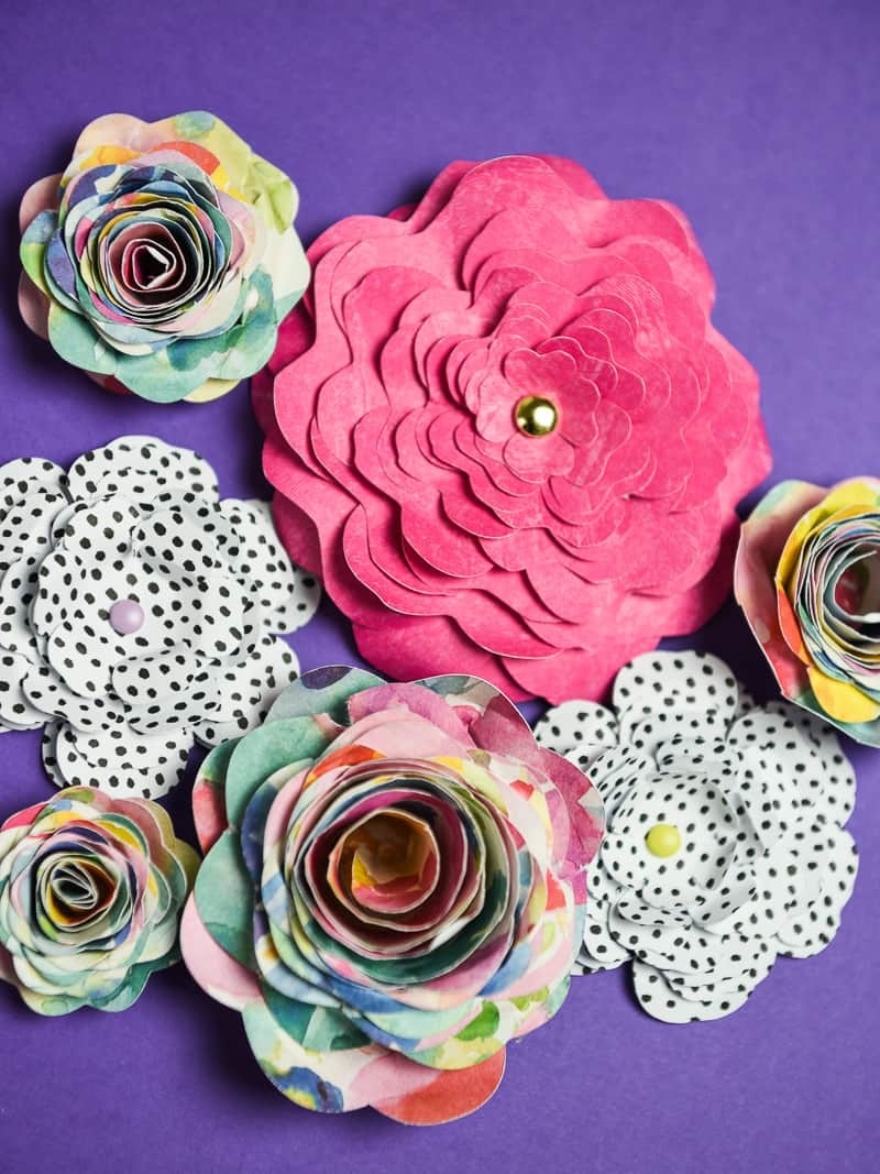 Home crafts you can make with paper 3 Ways To Make 3d Paper Flowers With Your Silhouette Simply Made Fun