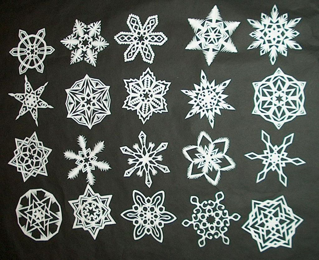 Home crafts you can make with paper How To Make 6 Pointed Paper Snowflakes 11 Steps With Pictures