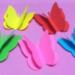 How To Make A Paper Crafts For Gifts How To Make Butterfly With Color Paper Making Paper Butterflies