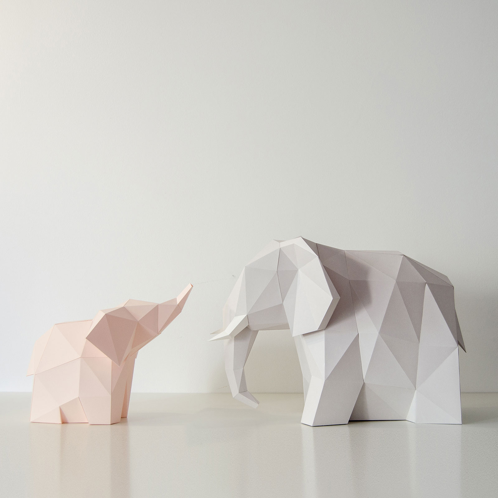 How to Make an Elephant Paper Craft Fun Crafts for Kids Elephant Family Owl Paperlamps