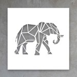 How To Make An Elephant Paper Craft Fun Crafts For Kids Elephant Papercraft Canvas Cutout Elephant Africanbigfive