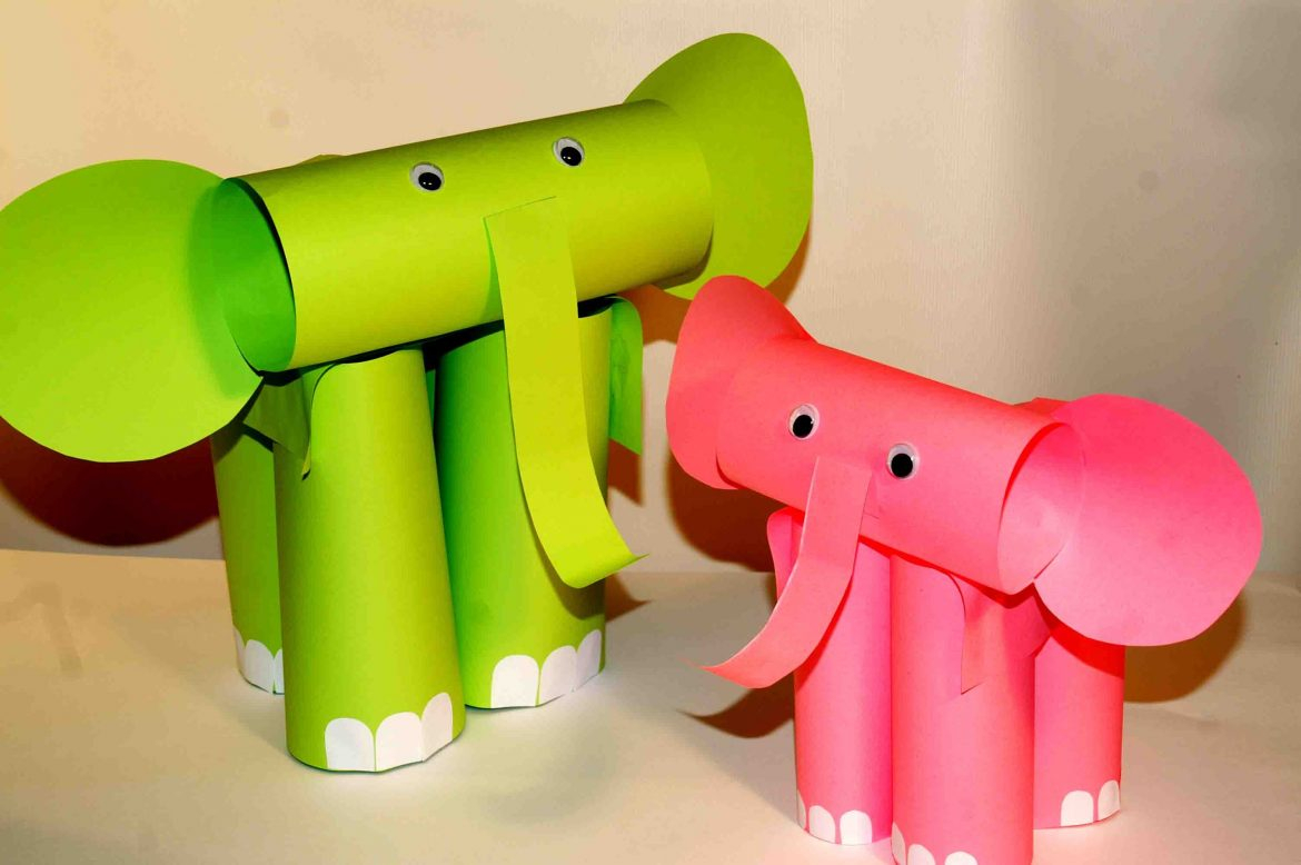How to Make an Elephant Paper Craft Fun Crafts for Kids Etikaprojects Do It Yourself Project